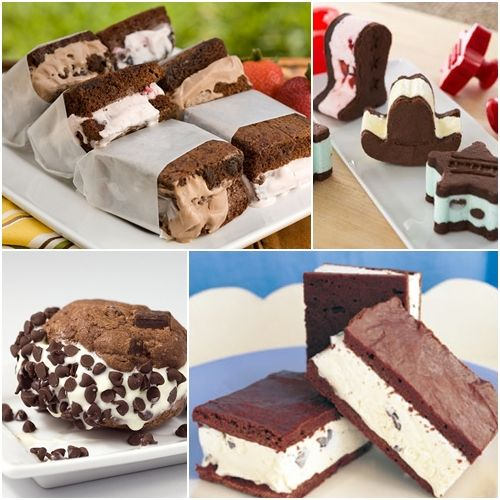 sandwiches brownies Sandwich de brownies y helado ¡mmm...!