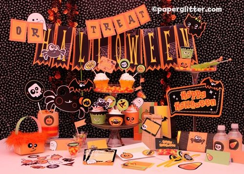 Kit para Fiestas de Halloween descargable
