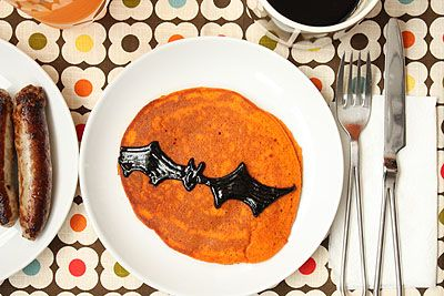 pancake halloween Pancakes decorados para Halloween