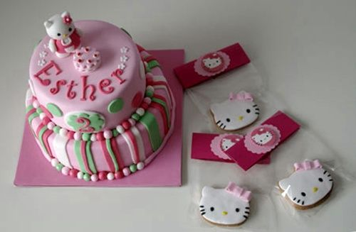 tarta glaseada hello kitty