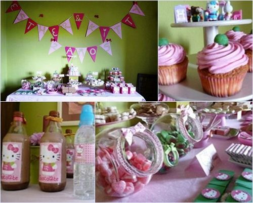 detalles de la fiesta hello kitty