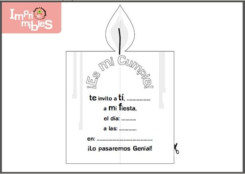 invitacion vela1 Bonitas invitaciones de cumpleaos para imprimir