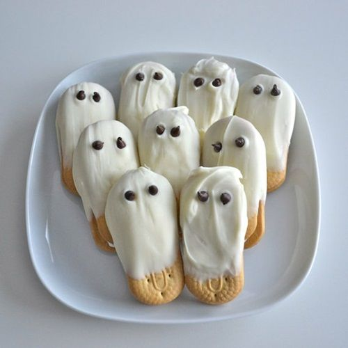 Galletas que traspasaron un fantasma para Halloween Galletas fantasma para Halloween