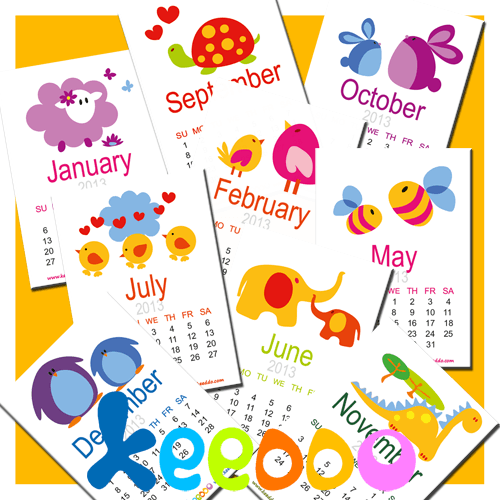 calendario de pared infantil para descargar