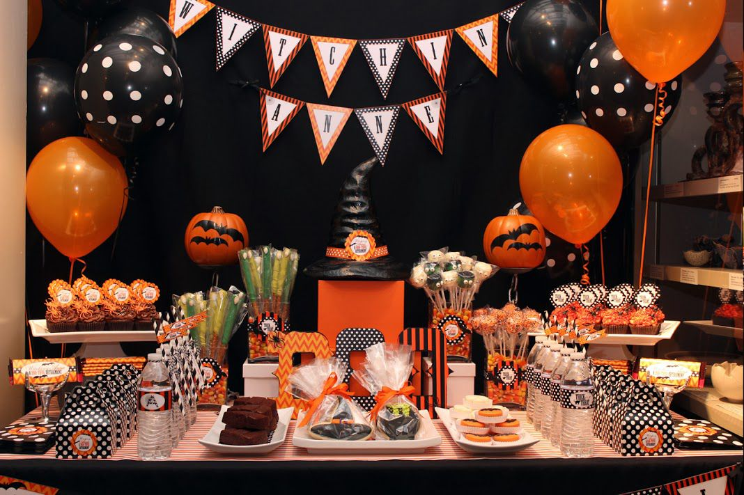 Decoraci n de halloween para peque as brujas fiestas y cumples - Ideas decoracion halloween fiesta ...