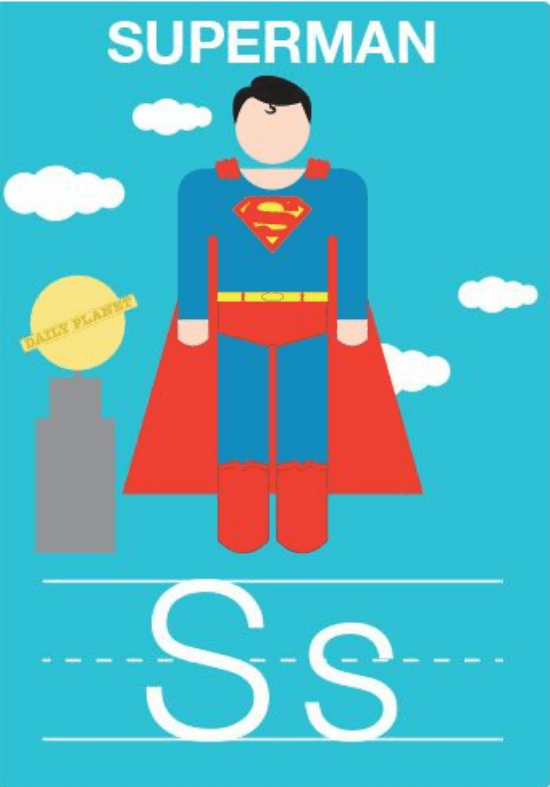 imprimible-superheroe-superman