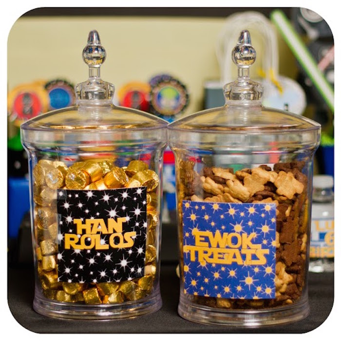 fiesta de star wars han rolos y ewok treats