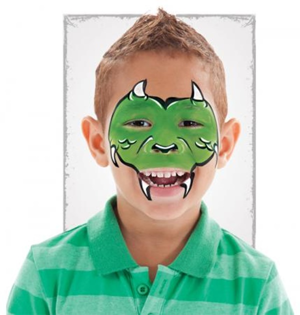Easy T Rex Face Paint