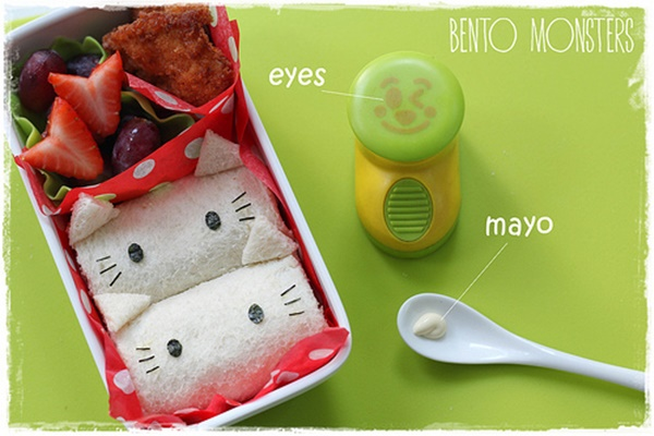 Rollo-de-sándwich-de-Hello-Kitty-decoracion