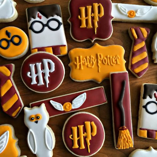 Ideas Decoración Galletas Glaseado Harry Potter