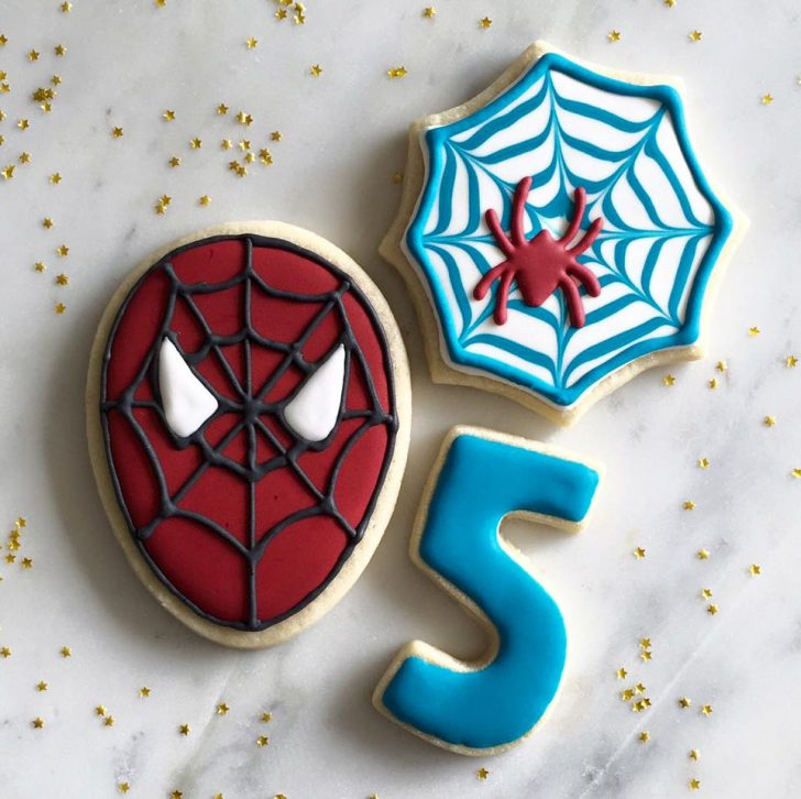 Ideas Decoración Galletas Glaseado Spiderman