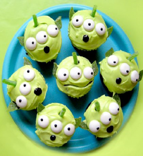 cupcakes marcianitos verdes toy story