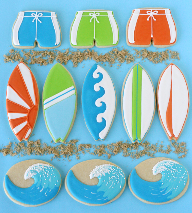 Ideas Originales para Galletas. Galletas Surferas