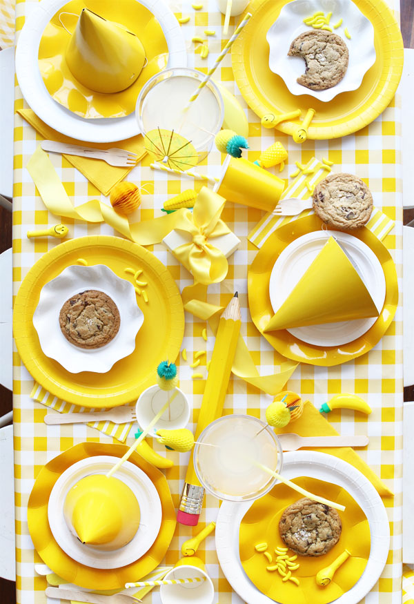 ideas para decorar fiesta de amarillo chillón