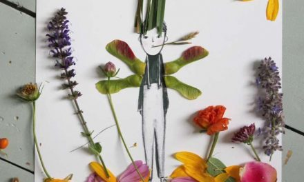 Decorar dibujos infantiles con naturaleza: idea creativa