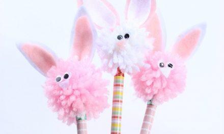 Adornos para lápices: decoración DIY con toppers de conejitos
