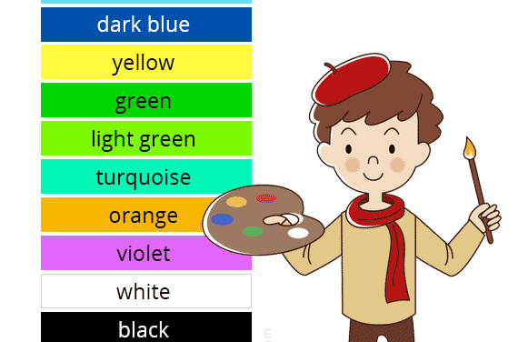 Los colores en inglés. English colors
