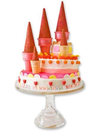 Tarta-castillo para cumpleaños de princesas