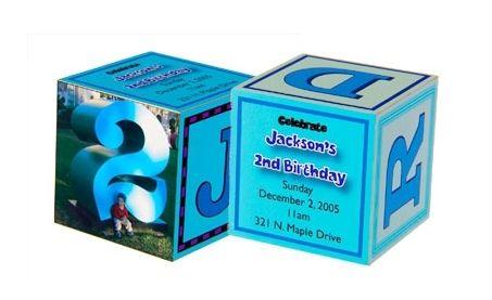 Invitaciones para fiestas infantiles en 3D