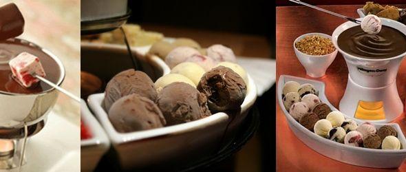 Fondue de helado, ¡sorpréndeles!