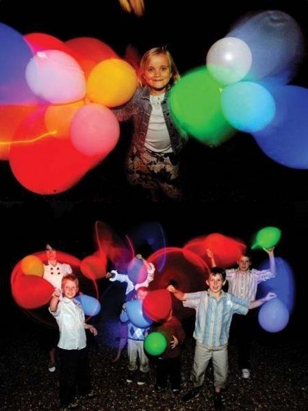 Globos que se iluminan para fiestas infantiles
