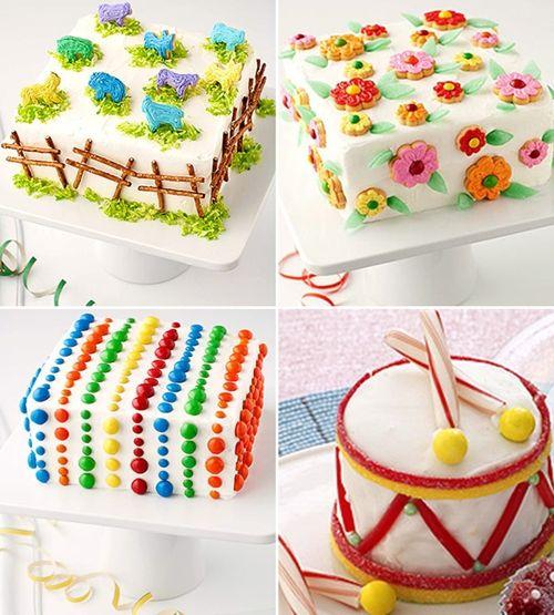 Ideas para decorar tartas de cumpleaños