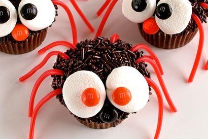 Trufas de chocolate disfrazadas de araña