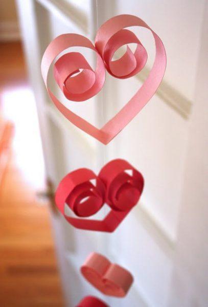 Guirnaldas de corazones para fiestas de princesas