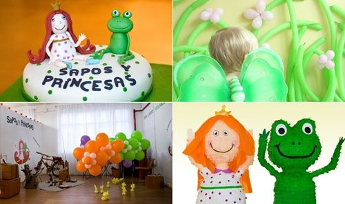 Fiestas infantiles con Sapos y Princesas