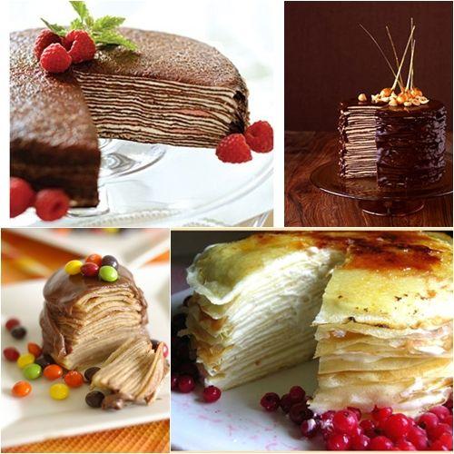 Pasteles de Crepes. Mmmm… ¡que tentación!