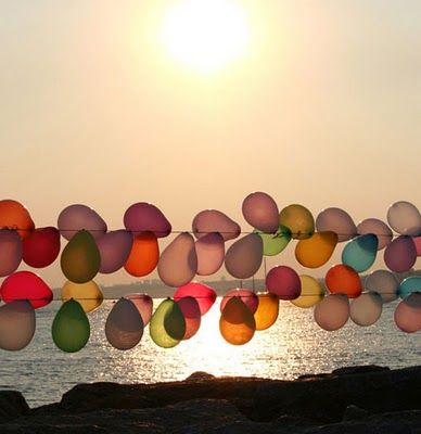Guirnalda de globos al aire libre