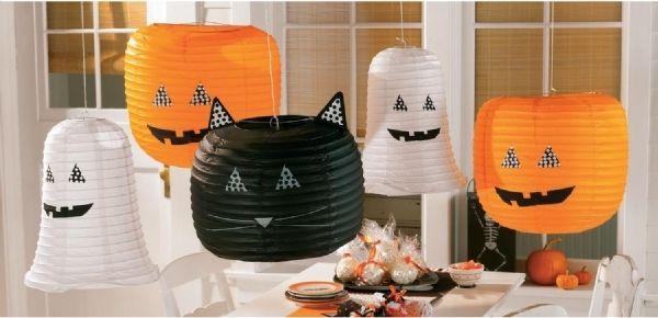 Fiesta de Halloween- lámparas de papel