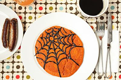Pancakes decorados para Halloween