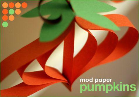 Calabazas de papel para fiestas Halloween