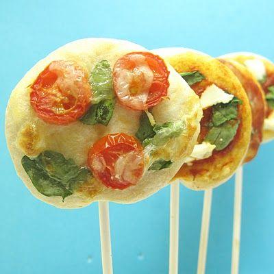 Piruletas de pizza, igual de ricas pero más divertidas