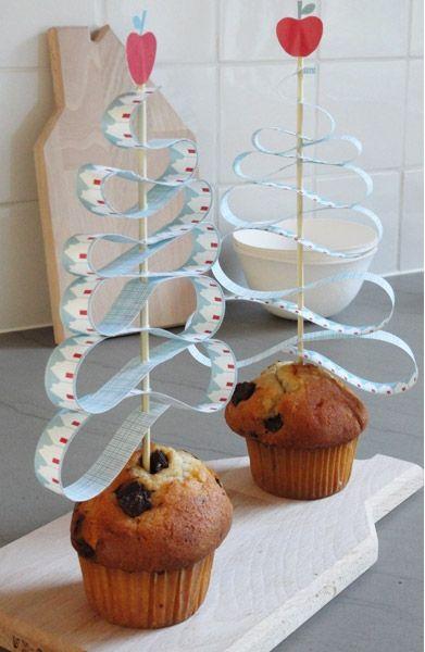 Decorar los pasteles de Navidad