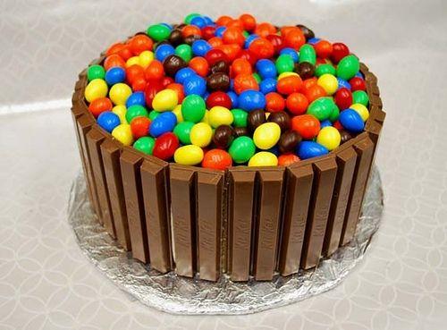 Tarta de cumpleaños Kit-Kat