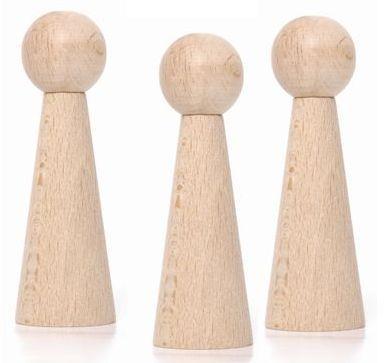 bases de madera para muñecas