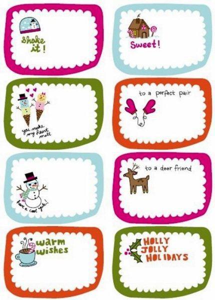 Etiquetas para personalizar los regalos ¡imprímelas!