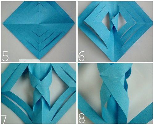 origami sencillo para manualidades de navidad