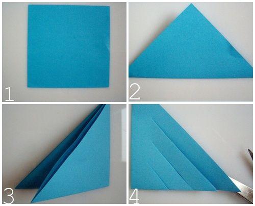 pasos para hacer estrella polar origami