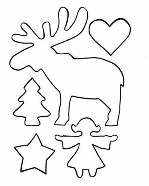 reno y siluetas de Navidad