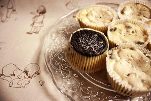 Receta de cheesecakes con Oreo