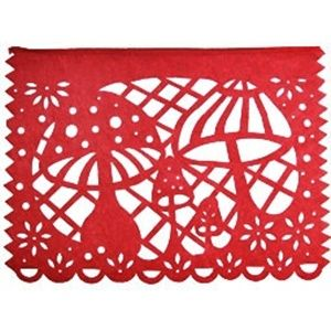 diseño de banderola en rojo