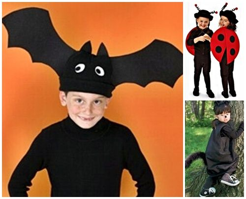Disfraces caseros: murciélago, mariquita y gato