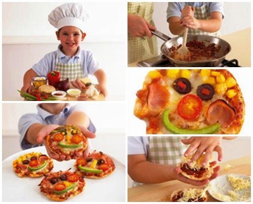 preparacion de minipizzas en pan de pita
