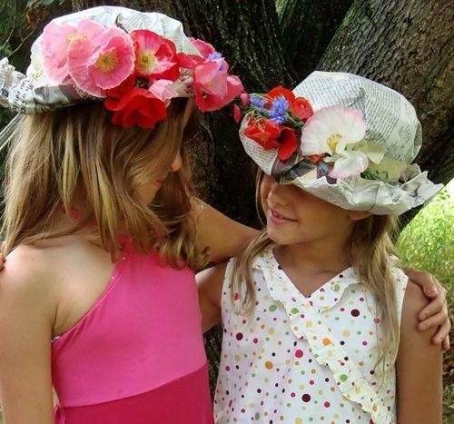 Sombreros de papel  para fiestas