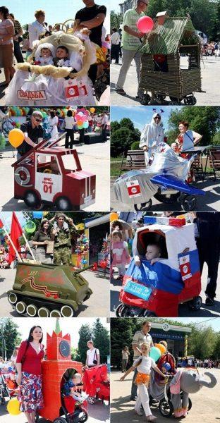 pequeñas carrozas de carnaval