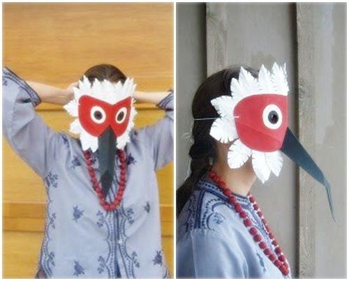Máscara de pájaro para carnaval