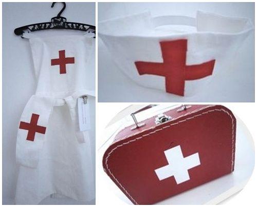 Disfraz casero de enfermera